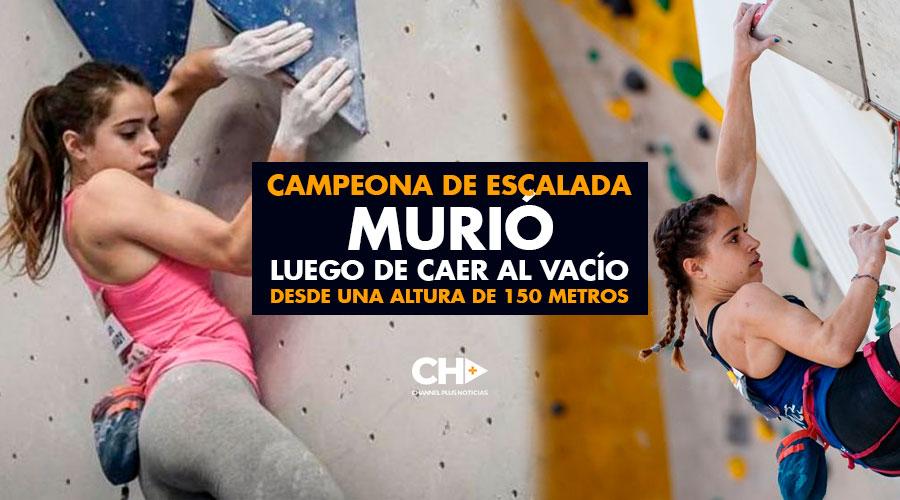 Campeona de escalada MURIÓ luego de CAER al vacío desde una altura de 150 metros