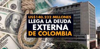 US$140.232 millones llega la DEUDA EXTERNA de Colombia