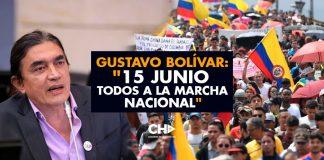 """GUSTAVO BOLÍVAR: """"15 JUNIO TODOS A LA MARCHA NACIONAL"""""""