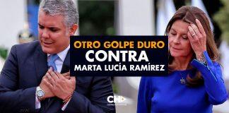 Otro GOLPE DURO contra Marta Lucía Ramírez