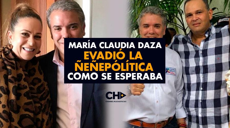 María Claudia Daza evadió la Ñeñepólítica como se esperaba