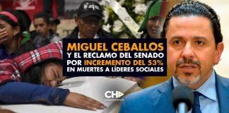 Miguel Ceballos y el RECLAMO del Senado por incremento del 53% en muertes a líderes sociales