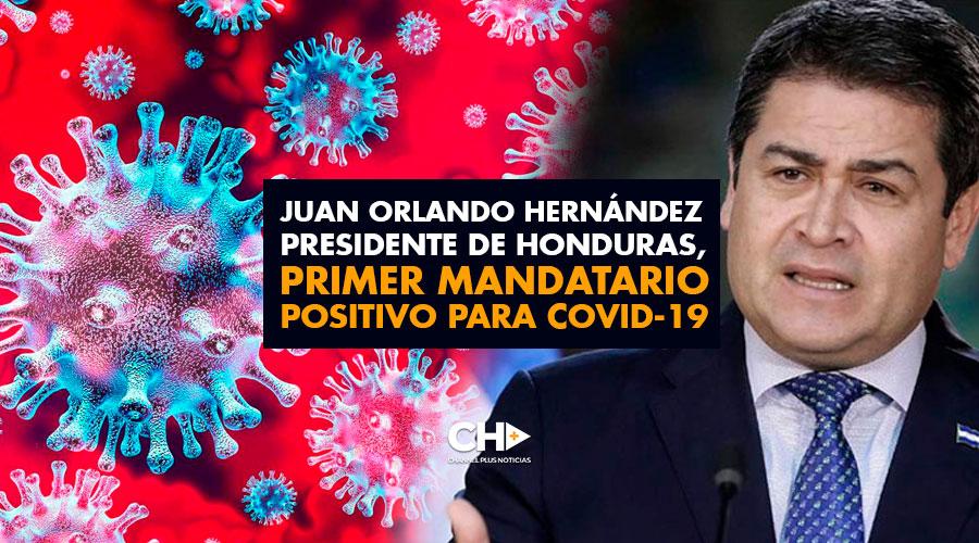 Juan Orlando Hernández Presidente de Honduras, primer mandatario positivo para COVID-19
