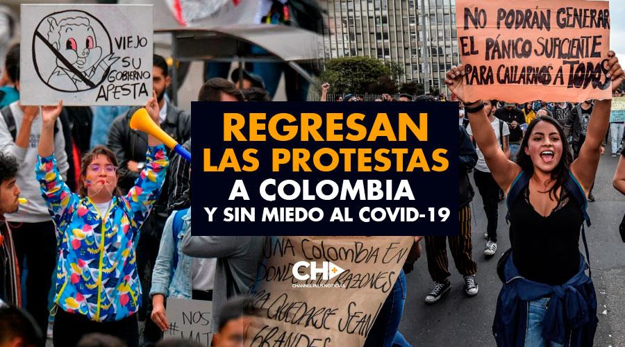 Regresan las PROTESTAS a Colombia y sin MIEDO al COVID-19