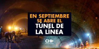 En Septiembre se ABRE el TÚNEL DE LA LÍNEA