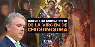Duque debe BORRAR trino de la Virgen de Chiquinquirá
