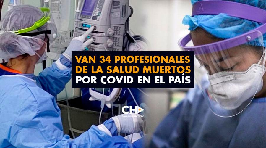 Van 34 profesionales de la salud muertos por COVID en el país