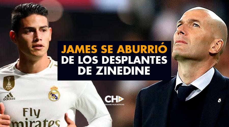 JAMES se aburrió de los desplantes de Zinedine y pide NUEVO EQUIPO fuera de España