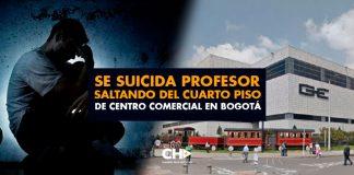 Se suicida PROFESOR saltando del cuarto piso de centro comercial en Bogotá