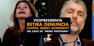 "Vicepresidenta retira denuncia contra Jeremy McDermott del caso de ""Memo Fantasma"""