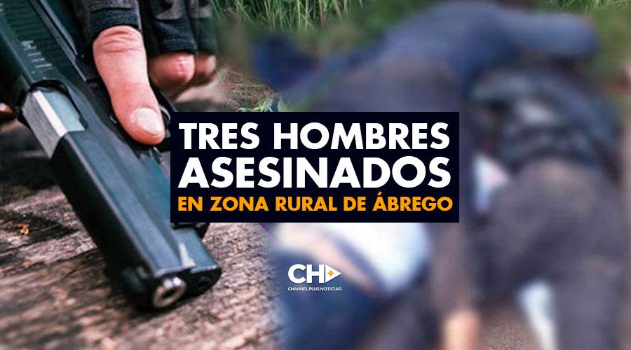 Tres hombres asesinados en zona rural de Ábrego