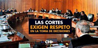 Las CORTES EXIGEN respeto en la toma de decisiones