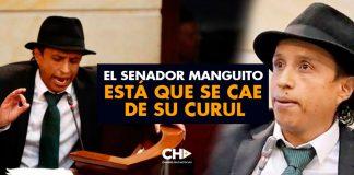 El senador MANGUITO está que se cae de su curul