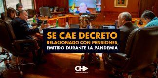 Se CAE Decreto relacionado con Pensiones, emitido durante la pandemia