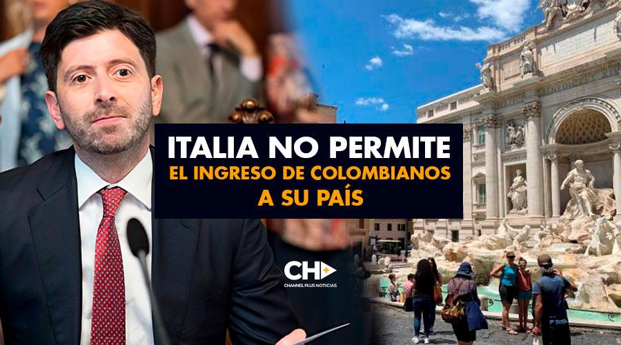 Italia NO PERMITE el ingreso de Colombianos a su país