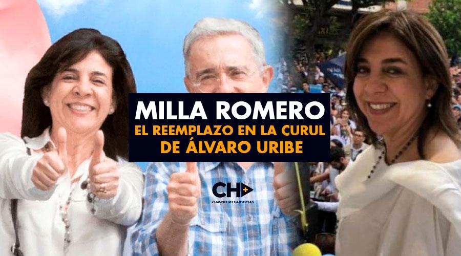 Milla Romero el reemplazo en la curul de Álvaro Uribe