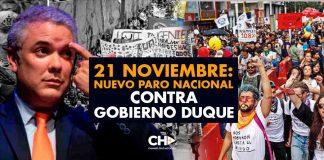 21 NOVIEMBRE: Nuevo PARO NACIONAL contra Gobierno Duque