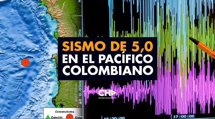 SISMO de 5,0 en el PACÍFICO colombiano