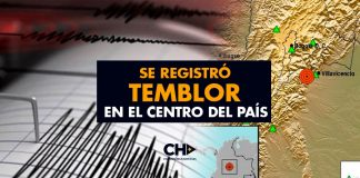 Se registró temblor en el Centro del País