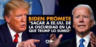 """Biden promete """"sacar a EE.UU. de la oscuridad en la que Trump lo sumió"""""""