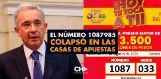 El Número 1087985 colapsó en las casas de apuestas en Colombia
