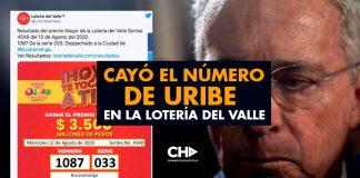 Cayó el número de URIBE en la Lotería del VALLE