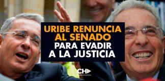 Uribe RENUNCIA al SENADO para EVADIR a la JUSTICIA