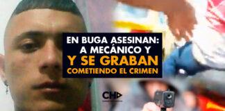 En Buga asesinan a mecánico y se graban cometiendo el crimen