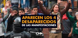 Aparecen los 4 desaparecidos de las manifestaciones