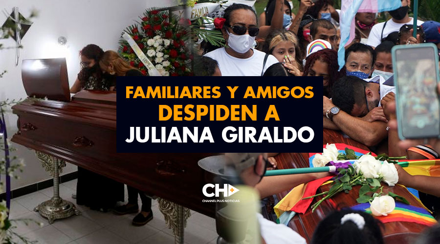 Familiares y Amigos despiden a Juliana Giraldo