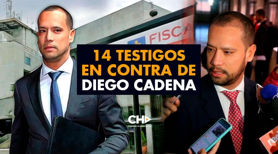 14 Testigos en contra de Diego Cadena