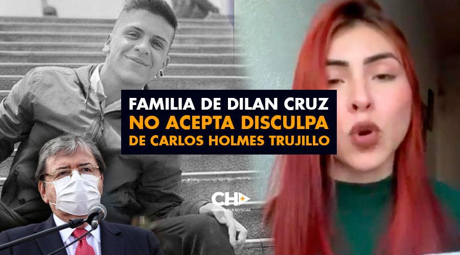 Familia de Dilan Cruz no acepta disculpa de Carlos Holmes Trujillo