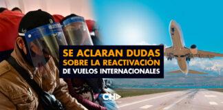 Se aclaran dudas sobre la reactivación de vuelos internacionales