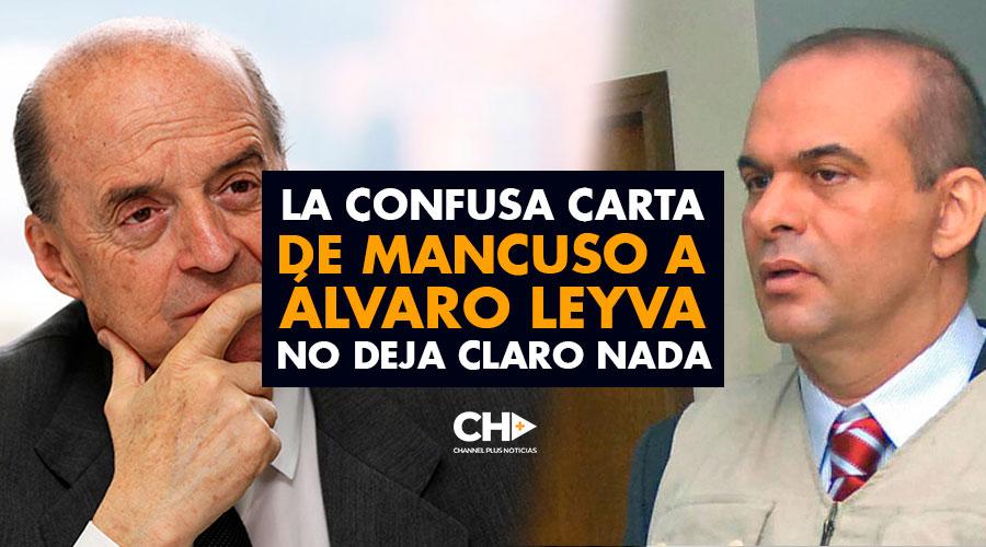 La CONFUSA carta de MANCUSO a Álvaro Leyva no deja claro NADA