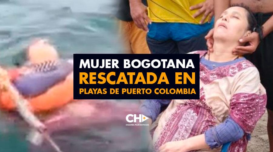 Mujer Bogotana rescatada en playas de Puerto Colombia