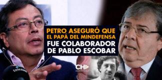 Petro aseguró que el papá del MinDefensa fue colaborador de Pablo Escobar