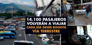 14.100 pasajeros volverán a viajar cada día desde Bogotá vía Terrestre