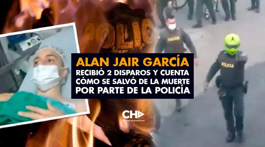 Alan Jair García, recibió 2 disparos y cuenta cómo se salvó de la muerte por parte de la policía