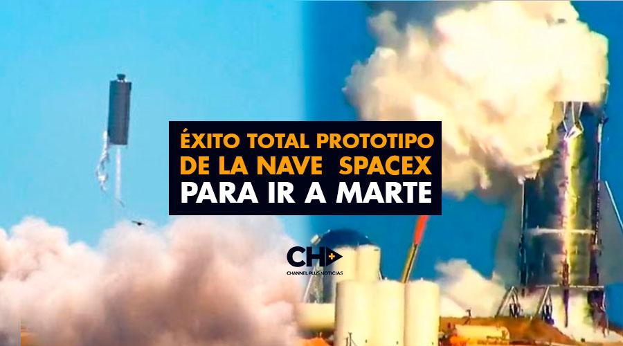 Éxito total prototipo de la nave SpaceX para ir a Marte