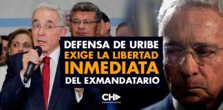 Defensa de Uribe EXIGE la libertad inmediata del ExMandatario