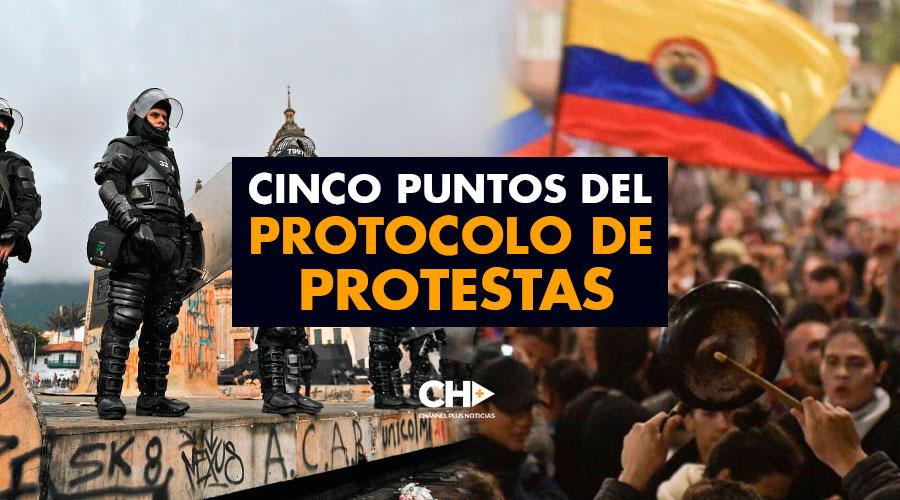 Cinco puntos del protocolo de PROTESTAS