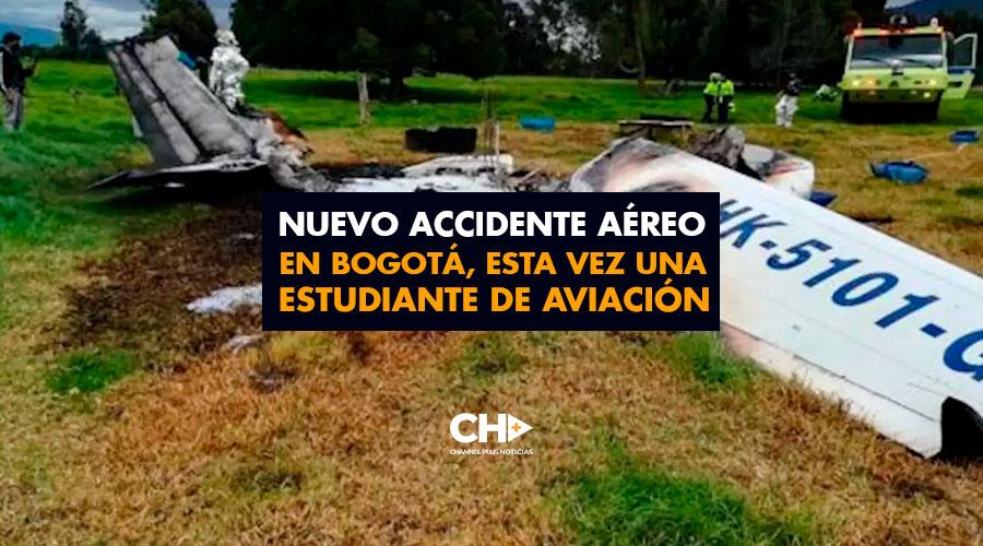 Nuevo Accidente aéreo en Bogotá, esta vez una estudiante de aviación