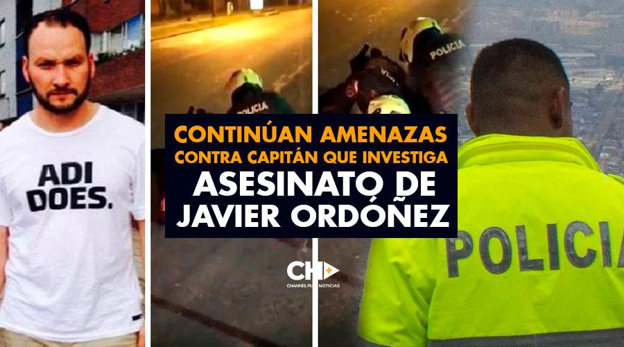 Continúan amenazas contra capitán que investiga asesinato de Javier Ordóñez