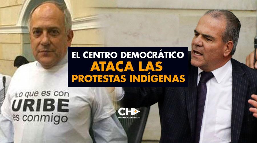 El Centro Democrático ataca las protestas indígenas
