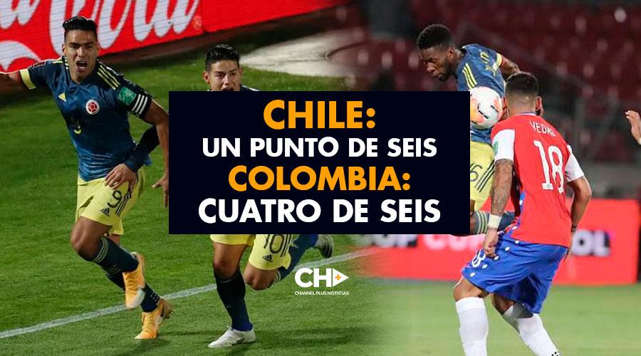 Chile: Un punto de Seis – Colombia: Cuatro de Seis