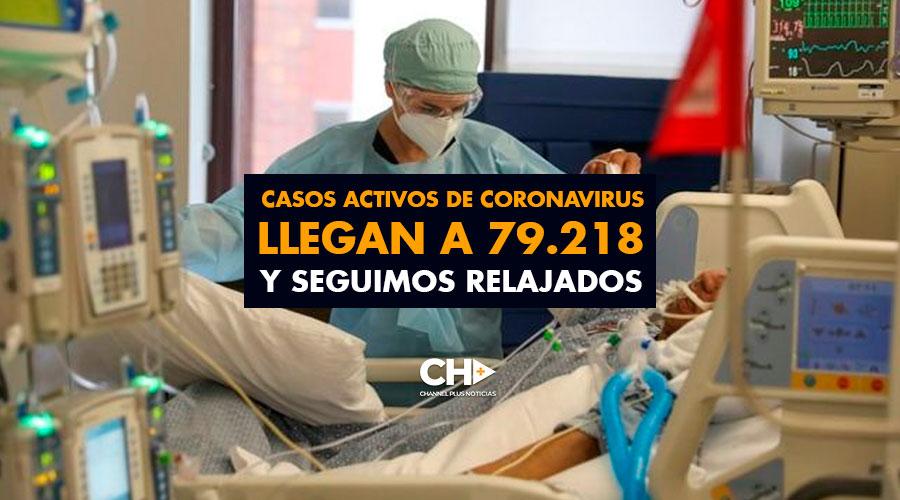 Casos activos de coronavirus llegan a 79.218 y seguimos RELAJADOS