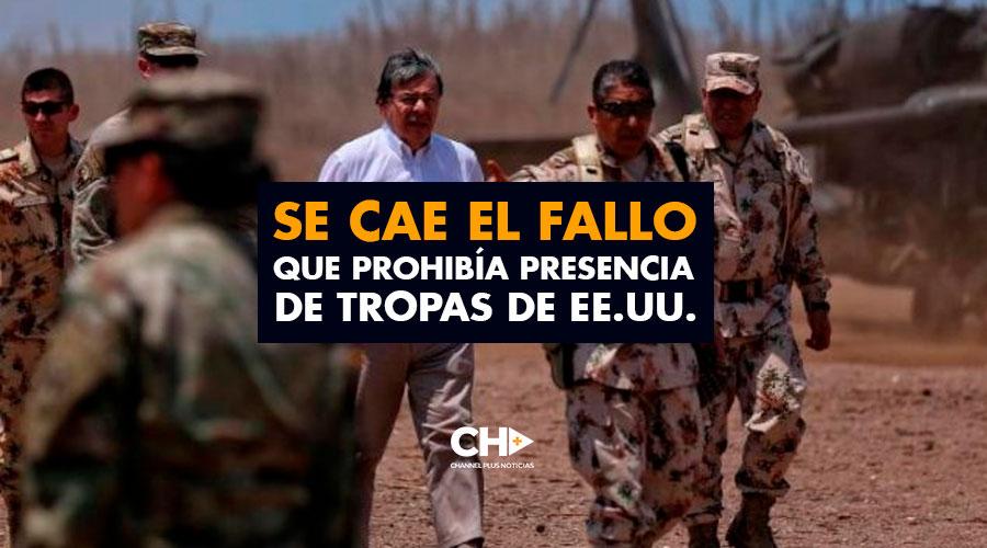 Se cae el fallo que prohibía presencia de tropas de EE.UU.