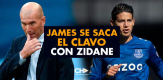 James se saca el CLAVO con Zidane