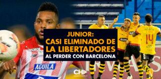 Junior: otro casi eliminado de la Libertadores al perder con Barcelona
