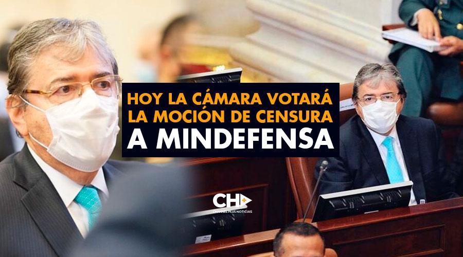 Hoy la Cámara votará la moción de censura a Mindefensa